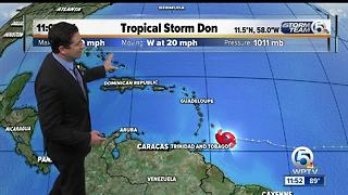 Tropical Storm 11 a.m. Tuesday update