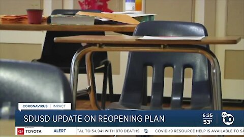 SD Unified to provide update on next phase of reopening plan