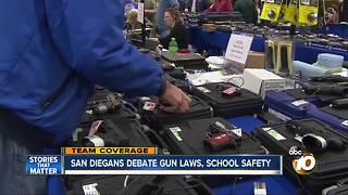 San Diegans debate gun laws, school safety