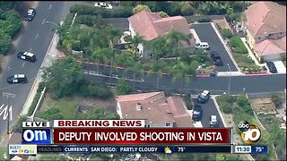 Vista deputy-involved shooting under investigation - Video