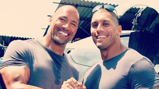The Rock and His Stunt Double Are Basically Twins - Video