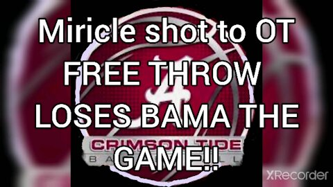FREE THROW LINE BEATS ALABAMA!