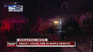 One woman is dead after a Maple Heights house fire