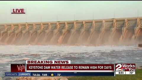 Keystone Dam releasing most water in last 30 years