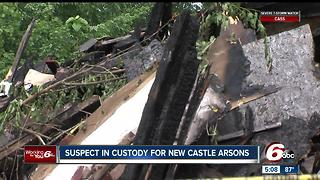 Man accused of setting fire to several homes in New Castle - Video