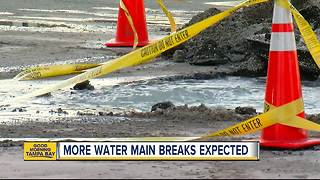 More water main breaks expected in Tampa as temperatures suddenly get warmer - Video
