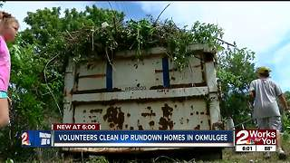 Volunteers clean up rundown homes in Okmulgee