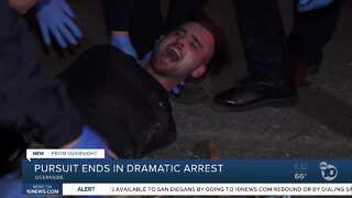 Pursuit in Oceanside ends in a dramatic arrest