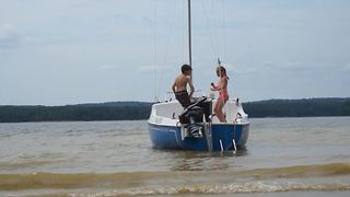 Two Kids Dancing On A Boat - Video