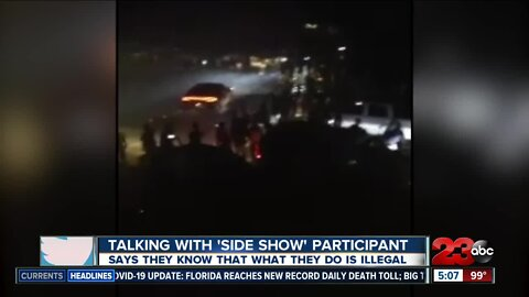 23ABC talks with 'side show' street racing participant