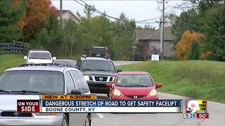 Dangerous stretch of road in Boone County to get facelift - Video