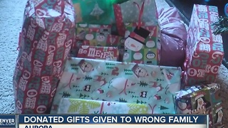 Donated gifts given to wrong family - Video