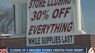 Grocery store closings could limit access to fresh food - Video