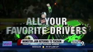 Monster Jam returns to Tucson - Video