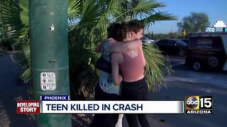 Family and friends mourn after teen dies in north Phoenix crash - Video