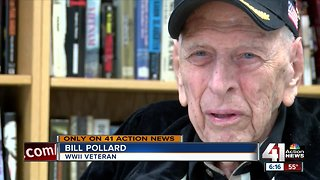 WWII veteran helping others remember history