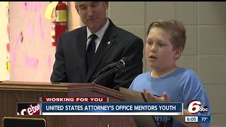 US Attorney's Office mentors youth who may have had attitude problems - Video