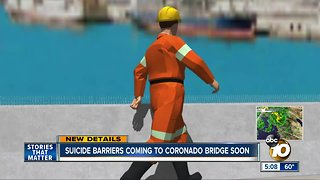 Coronado Bridge getting 'bird spikes' as suicide barrier