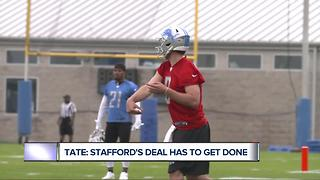 Golden Tate wants Lions to lock up Matthew Stafford ASAP - Video