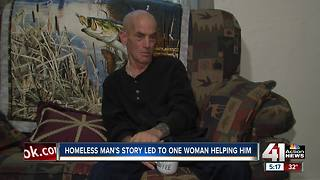 Homeless man's story led to one woman's help - Video