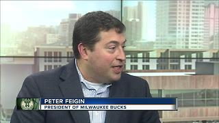 Bucks' Peter Feigin  on discussions with Foxconn - Video