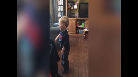 Toddler Playing Catch with Dad is SO CUTE!