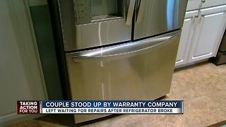Couple left waiting for repairs after fridge broke - Video