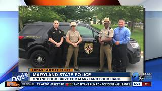 Maryland State Police collecting food for the Maryland Food Bank - Video