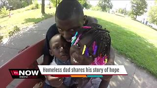 Homeless dad shares story of hope - Video