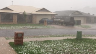 Large Hailstones Fall During Queensland Storm - Video
