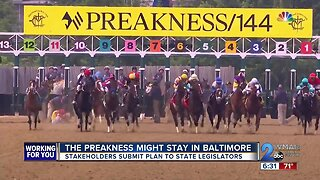 Baltimore City and Stronach Group turn in plan to keep the Preakness Stakes in Baltimore