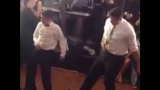 Dance off between father and 11-year-old son