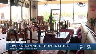 Many restaurants choose to keep dine-in closed
