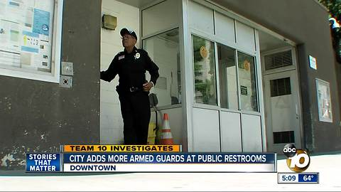 San Diego adds armed guards at public restrooms
