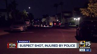 Suspect shot by police in north Phoenix - Video
