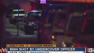 Man shot attempting to rob officer - Video