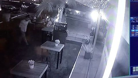 Security Camera Shows Earthquake Rattle Bodrum Hotel