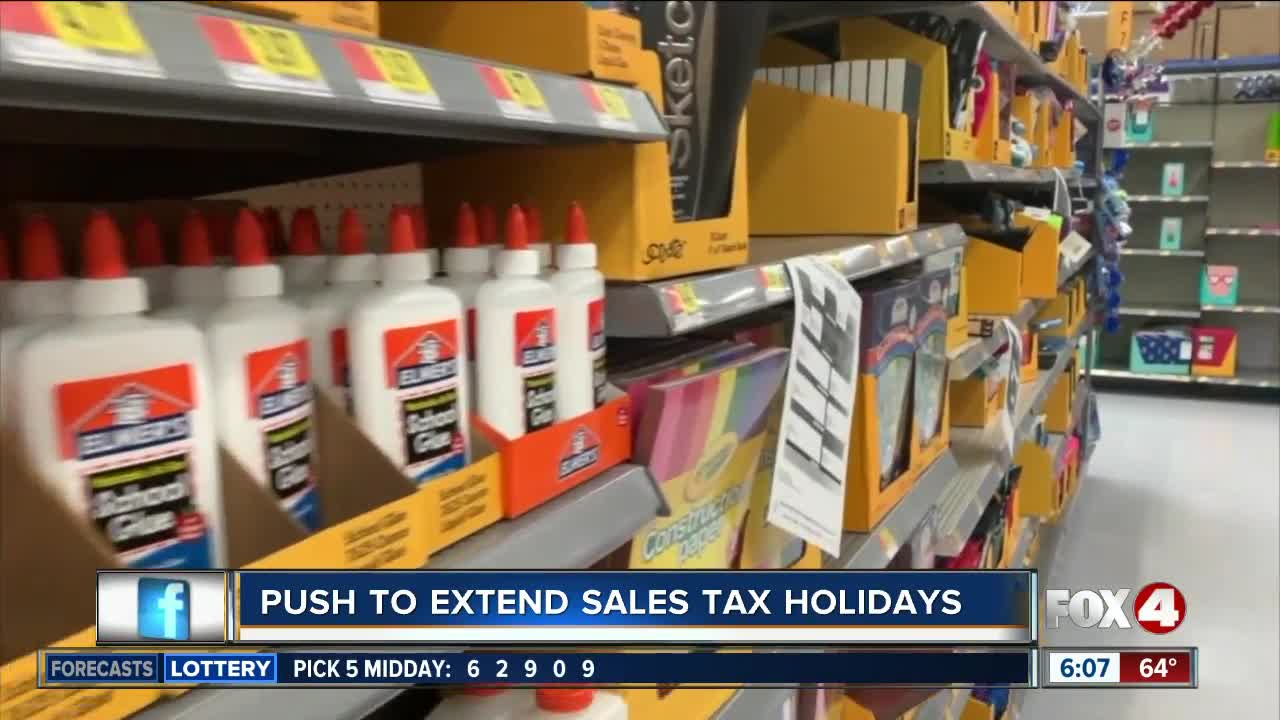 Florida lawmakers push for extended sales tax holidays in 2020