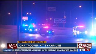 OHP trooper hit by car dies - Video