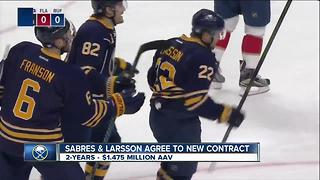 Sabres, Larsson agree to new 2-year contract