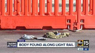 Dead body discovered along light rail in Mesa - Video