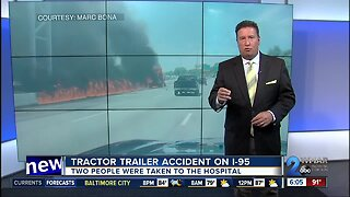 Tractor trailer accident on I-95
