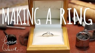 Man Learns to Make Engagement Ring for Girlfriend - Video