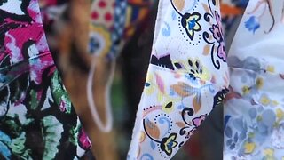 Quilters at a local church making thousands of masks for community and country