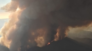 Aerial Footage Shows California Wildfire Burning Through National Forest - Video