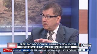 UNLV School of Medicine Hosts FREE Back-to-School Immunization Event - Video