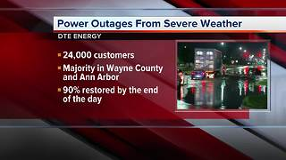 Nearly 30,000 without power following storms overnight - Video