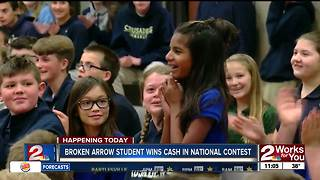 Broken Arrow fifth grader wins grand prize in nationwide recipe contest - Video