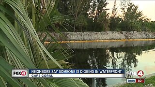 Cape Coral residents upset over digging in waterfront canal