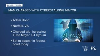 Mayor's accused cyberstalker in court